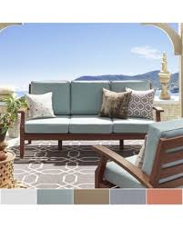 Modern Outdoor Sofa by Here U0027s A Great Deal On Yasawa Brown Modern Outdoor Cushioned Wood