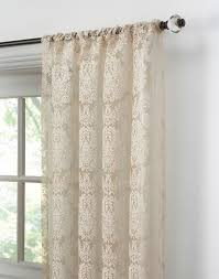 108 Inch Long Blackout Curtains by Traditional Damask Lace Pole Top Curtain Panel Curtainworks Com