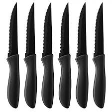 Colored Kitchen Knives by C55 6pcsbk Steak Knives Cutlery Products Cuisinart Com