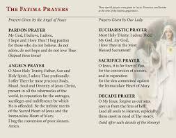 our lady of fatima prayer cards st andrew u0027s book gift u0026 church