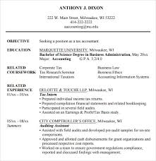 Tax Accountant Sample Resume by Accounting Resume 9 Free Samples Examples Format