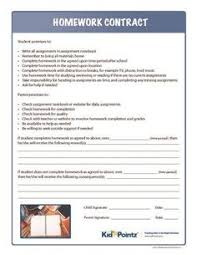 Homework Contract  Parents can help motivate kids by using this agreement in conjunction with a points and reward system to help your student thrive in the     Pinterest