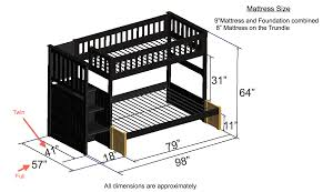 Plans For Bunk Bed With Steps by Discovery World Furniture Twin Over Full Espresso Staircase Bunk