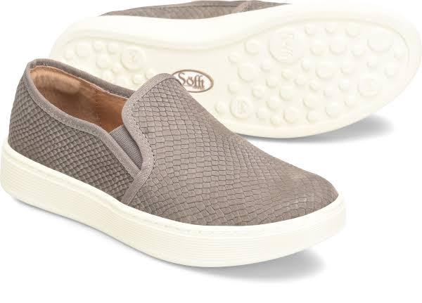 Sofft Somers Slip-On Grey Textured Nubuck
