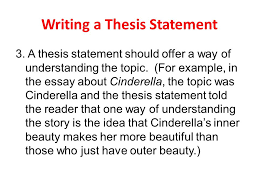 what is thesis statement in essay