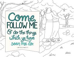 follow jesus coloring page eson me