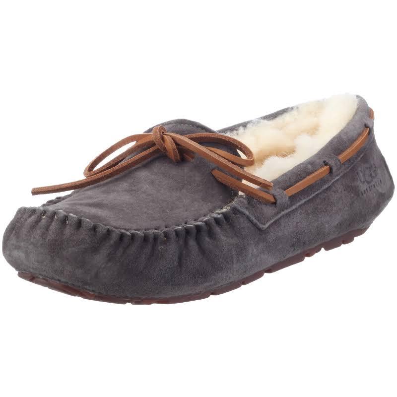Ugg Dakota Leather Pewter Ankle-High Suede Slipper 5M