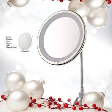Light Up Makeup Mirror Amazon Com Lighted Makeup Mirror 10 U201d Long Gooseneck Mirror W