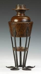 Stickley Floor Lamp Attr To Gustav Stickley Hammered Copper Oil Lamp Meet The