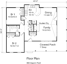 country style house plan 2 beds 1 00 baths 990 sq ft plan 22 123