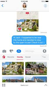 realtor com brings imessage integration to ios 10 app with