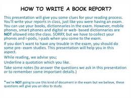 how to write a good book report by edukaat