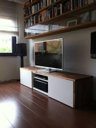 ikea media center hack easy does it u2026just build your besta cabinet following the