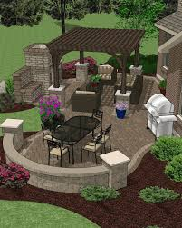 Patio  Hardscape Accessory Plans Backyard Decks Pinterest - Backyard plans designs