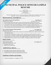Law Resume Samples by Campus Police Officer Resume Sample Law Resumecompanion Com