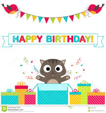Happy Birthday Invitation Card Template Birthday Party Card Stock Vector Image 56901993