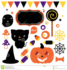 halloween cute clipart halloween party set stock image image 33274021