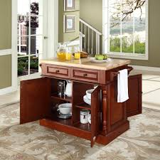Kitchen Island With Chopping Block Top Crosley Butcher Block Kitchen Island By Oj Commerce Kf30006bk