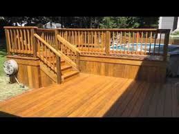 outdoor patio and deck around pool youtube