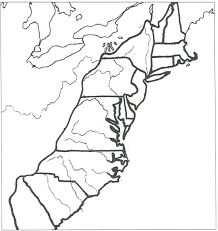 original 13 colonies coloring page outline only no words