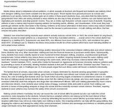 Persuasive Essay Prompt School Uniforms   Essay