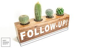 follow up cactus planter making a wooden plate youtube