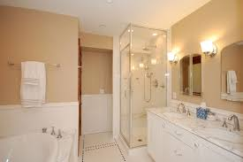 Bath And Shower In Small Bathroom Bathrooms Cheerful Small Bathroom White Interior Also