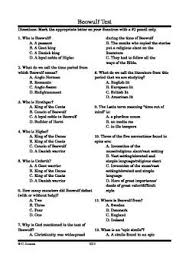 quot Beowulf quot  Multiple Choice and Essay Test Pinterest