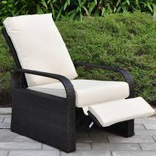 Wicker Patio Amazon Com Outdoor Resin Wicker Patio Recliner Chair With