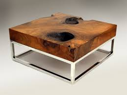 the creative recycled round wood coffee table unpolished home for