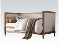 Linen Daybed 39175 Daybed In Oak U0026 Cream Linen By Acme