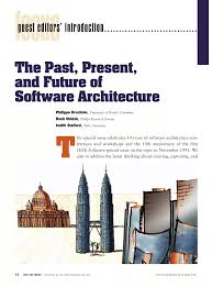 the past present and future for software architecture pdf