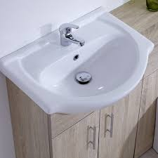Bathroom Combined Vanity Units by Vanity Unit Oak Trendy Sasha Medium Oak Vanity Unit Inc Basin