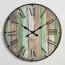 wood and metal clayton wall clock world market