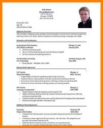 Resume Format For Teachers Job by 6 C V Format For Job Protect Letters