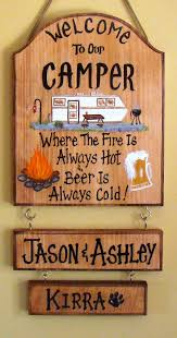 Personalized Signs For Home Decorating Best 25 Camper Signs Ideas On Pinterest Camp Signs Camper And