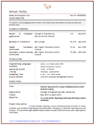 resume sample formats download   page resume   www annaunivedu org
