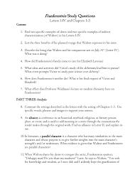 frankenstein study questions