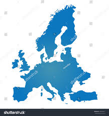 Blank Europe Map by Blank Blue Similar Europe Map Isolated Stock Vector 420953011