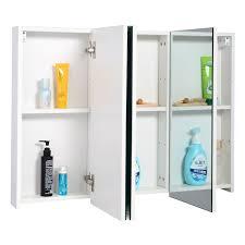 odessa white 3 door bathroom mirror cabinet victoriaplumcom benevola
