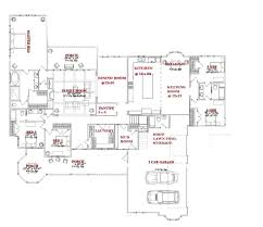 House Plans With 3 Car Garage by Fun Single Story Open Floor Plans Over 4 000 Two House With 3 Car