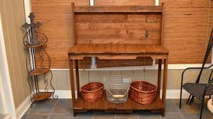 Plans For Building A Wooden Workbench by Build A Garden Potting Work Table For Free Out Of Old Wood Pallets