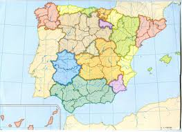Spain Political Map by