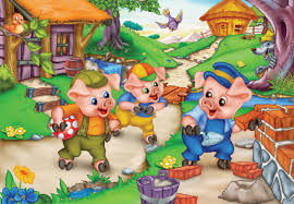 Image result for three little pigs and the big bad wolf