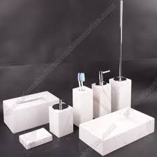 White Bathroom Accessories Set by White Marble Bathroom Accessories Set Two City Industry Co Ltd