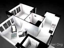Studio Apartment Design Plans 2 Room Hdb Flat 2 Room Studio Apartment 2sa Model Floor Plan