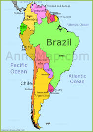 Map Of The South America by Map Of South America Nations Online Project Map Of South America