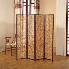 Room Divide by Amazon Com Decorative 4 Panel Wood U0026 Bamboo Folding Room Divider