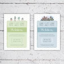 home sweet home moving announcement or house warming party invite