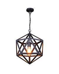 Black Pendant Light vintage industrial style matte black iron cage pendant light